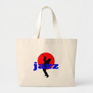 Jugador de trompeta del jazz bolsas lienzo