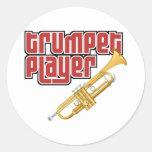 Jugador de trompeta etiquetas redondas
