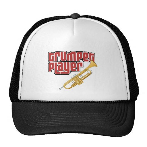 Jugador de trompeta gorros bordados
