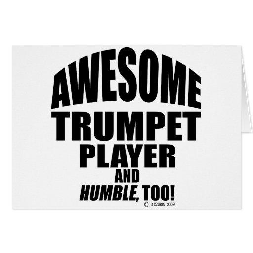 Jugador de trompeta impresionante felicitaciones