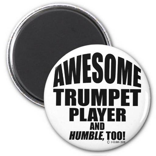 Jugador de trompeta impresionante imán de frigorífico