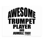 Jugador de trompeta impresionante postal