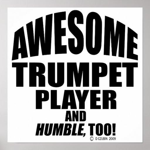 Jugador de trompeta impresionante posters