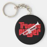 Jugador de trompeta llaveros personalizados
