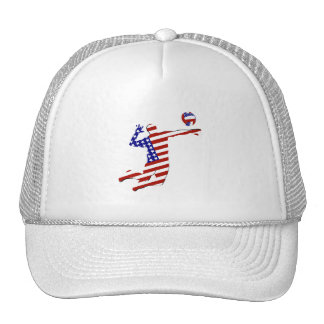 Jugador de voleibol americano gorras