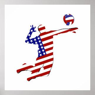 Jugador de voleibol americano póster