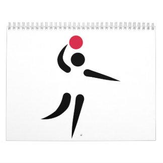 Jugador de voleibol calendario
