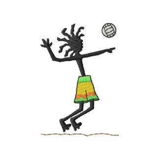 Jugador de voleibol camiseta polo bordada
