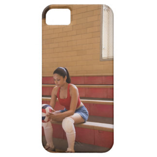Jugador de voleibol con voleibol funda para iPhone SE/5/5s