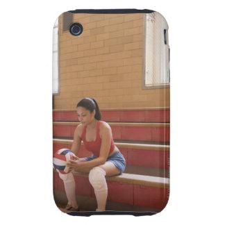 Jugador de voleibol con voleibol funda though para iPhone 3