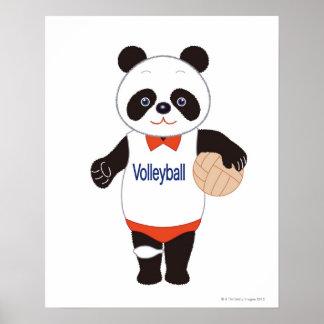 Jugador de voleibol de la panda póster