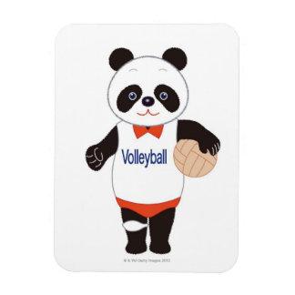 Jugador de voleibol de la panda imanes flexibles