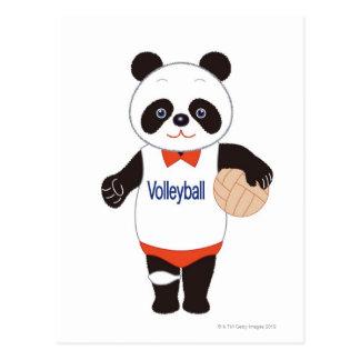 Jugador de voleibol de la panda postal