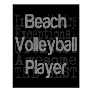 Jugador de voleibol de playa Extraordinaire Póster
