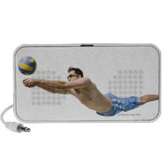 Jugador de voleibol del salto iPod altavoz