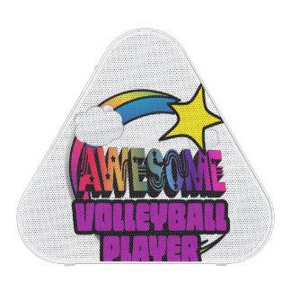 Jugador de voleibol impresionante del arco iris de altavoz