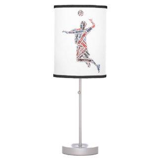 Jugador de voleibol lámpara de mesilla de noche