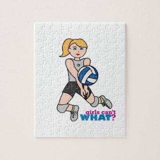 Jugador de voleibol - luz/Blonde Puzzle