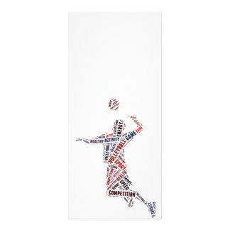 Jugador de voleibol tarjetas publicitarias a todo color
