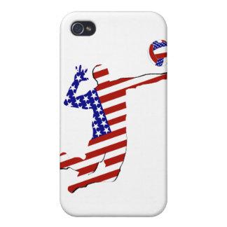 Jugador de voleibol Todo-Americano iPhone 4 Carcasa