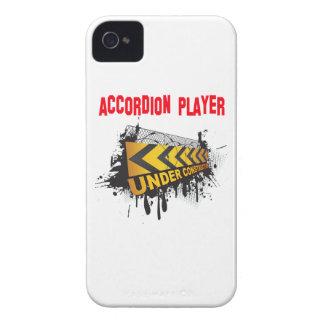 jugador del acordeón bajo construcción iPhone 4 cárcasa