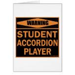 Jugador del acordeón del estudiante felicitación