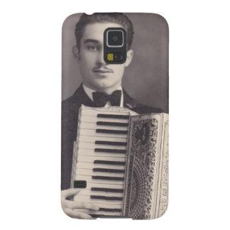 Jugador del acordeón del vintage funda para galaxy s5