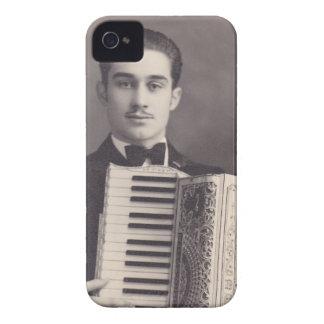 Jugador del acordeón del vintage funda para iPhone 4 de Case-Mate