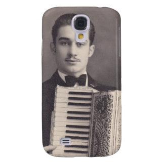 Jugador del acordeón del vintage samsung galaxy s4 cover