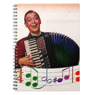 jugador del acordeón libreta