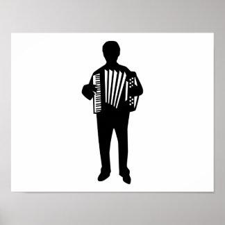 Jugador del acordeón posters