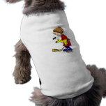 Jugador del aligeramiento camiseta de perro