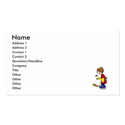Jugador del aligeramiento tarjetas de visita