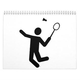 Jugador del bádminton calendarios