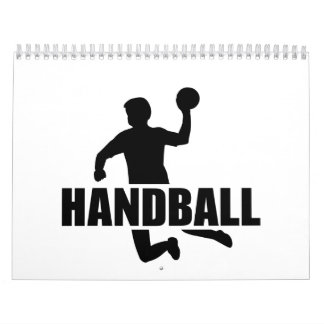 Jugador del balonmano calendarios