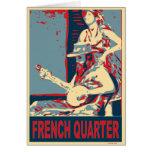 Jugador del banjo del barrio francés felicitación