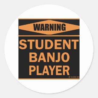 Jugador del banjo del estudiante etiquetas
