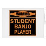 Jugador del banjo del estudiante tarjetas