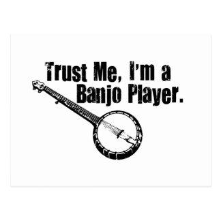 Jugador del banjo postales