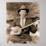 Jugador del banjo posters