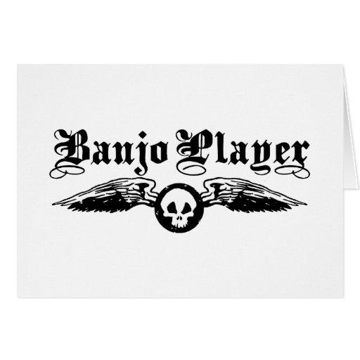 Jugador del banjo tarjeta