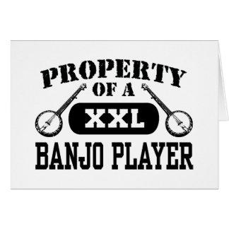 Jugador del banjo tarjeta de felicitación