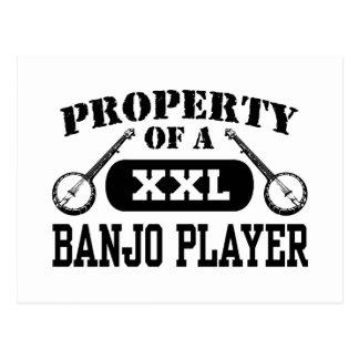 Jugador del banjo tarjeta postal