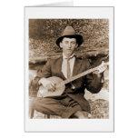 Jugador del banjo tarjetas