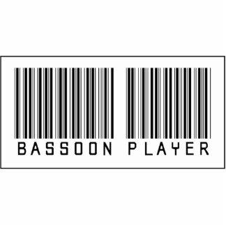 Jugador del Bassoon del código de barras Adorno Fotoescultura