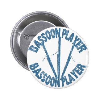 Jugador del Bassoon Pin Redondo De 2 Pulgadas