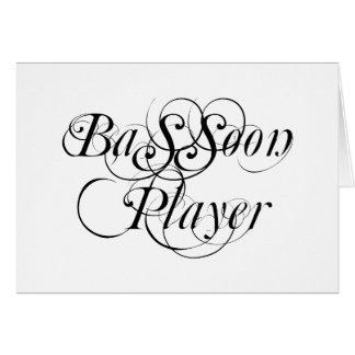 Jugador del Bassoon Tarjeta De Felicitación