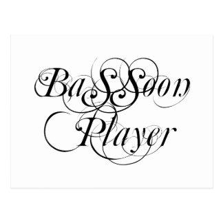 Jugador del Bassoon Tarjetas Postales