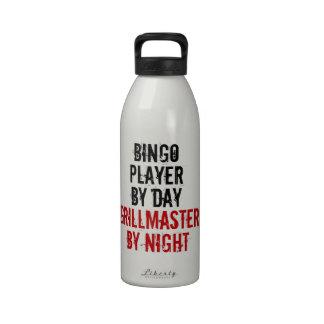 Jugador del bingo de Grillmaster Botella De Agua Reutilizable