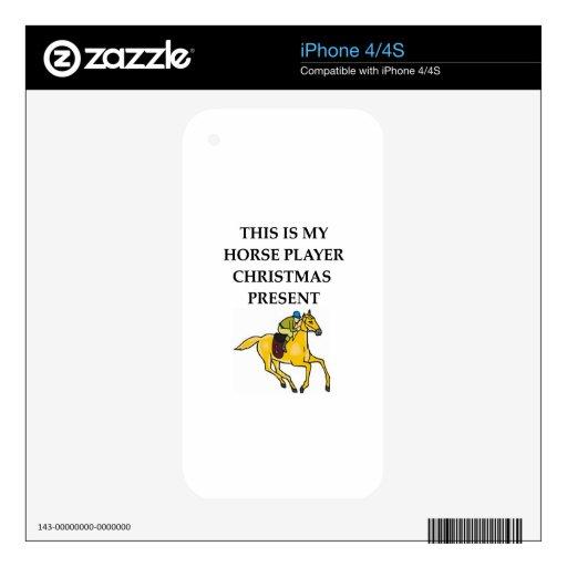 jugador del caballo iPhone 4 calcomanía